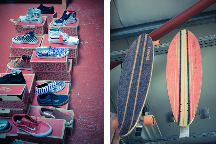 Vans et skate Globe en vente au magasin Au Fil des Marques à Biarritz.