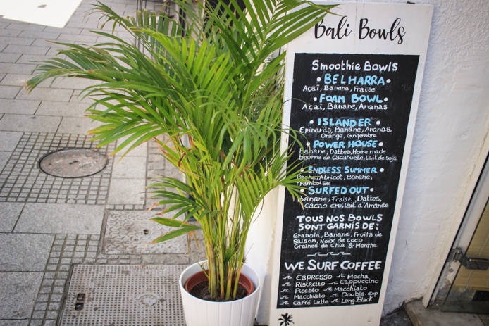 Bali Bowls à Biarritz à l'açaï