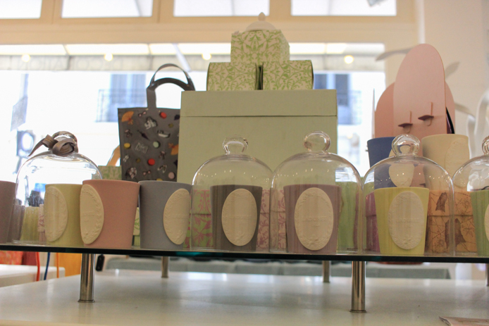 Bougies Ladurée en vente chez Christelle Caudron à Biarritz.