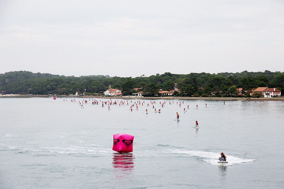 #RoxyFitness course de stand-up paddle au Lac d'Hossegor le 9 octobre