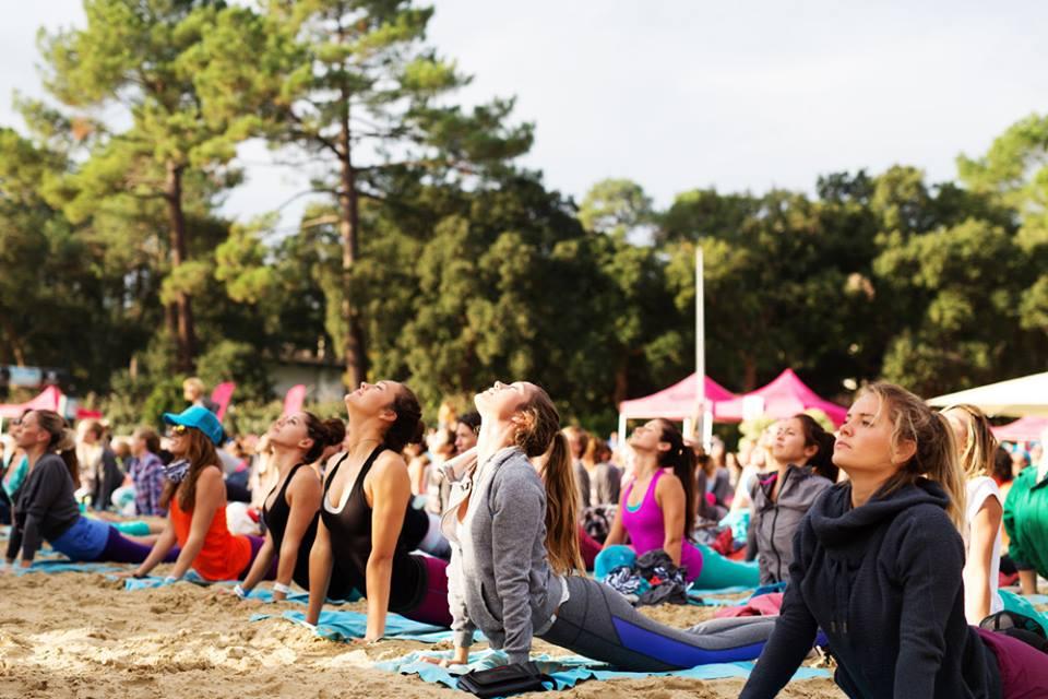 #RoxyFitness master class de yoga au Lac d'Hossegor le 9 octobre