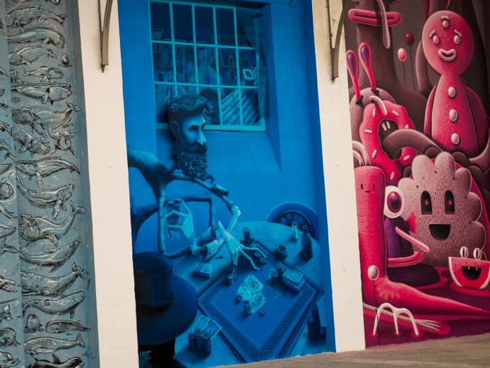 Expo Street Art Colorama au Grage Foch à Biarritz au Pays basque.