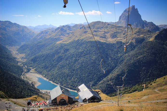 Station d'Artouste dans la Vallée d'Ossau dans les Pyrénées.
