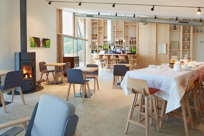 Restaurant des Eco-lodge Les Echasses à Saubion dans les Landes
