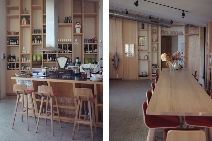 Salle de restaurant des Eco-lodge Les Echasses à Saubion dans les Landes