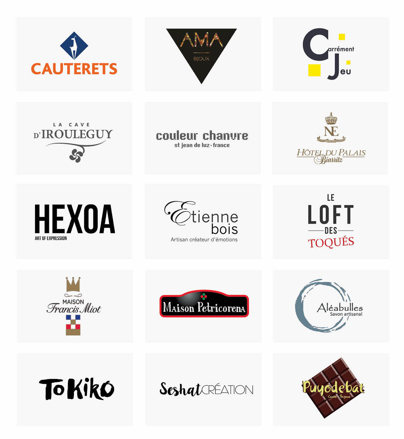 Logos des marques partenaires de la Kinda Box Noel 2016