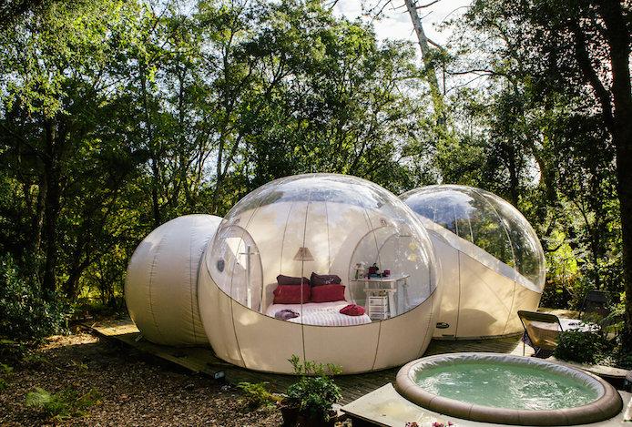 Hébergement insolite Lo Rey du Lac à Hossegor dans les Landes : la bulle