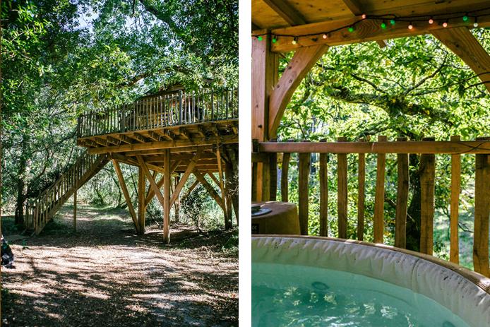 Hébergement insolite Lo Rey du Lac à Hossegor dans les Landes : cabane dans les arbres