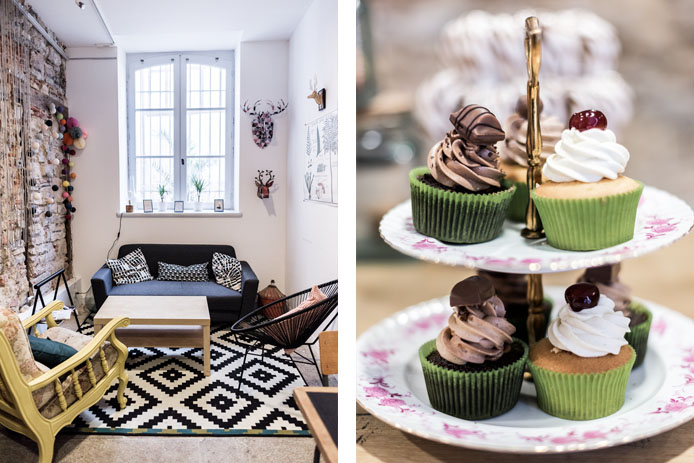 josie factory à Bayonne, coffee shop cupcakes