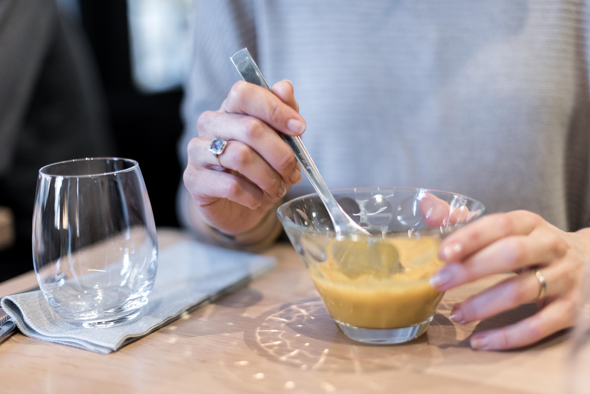 Velouté butternut auRestaurant Kitchen Dada à Bayonne