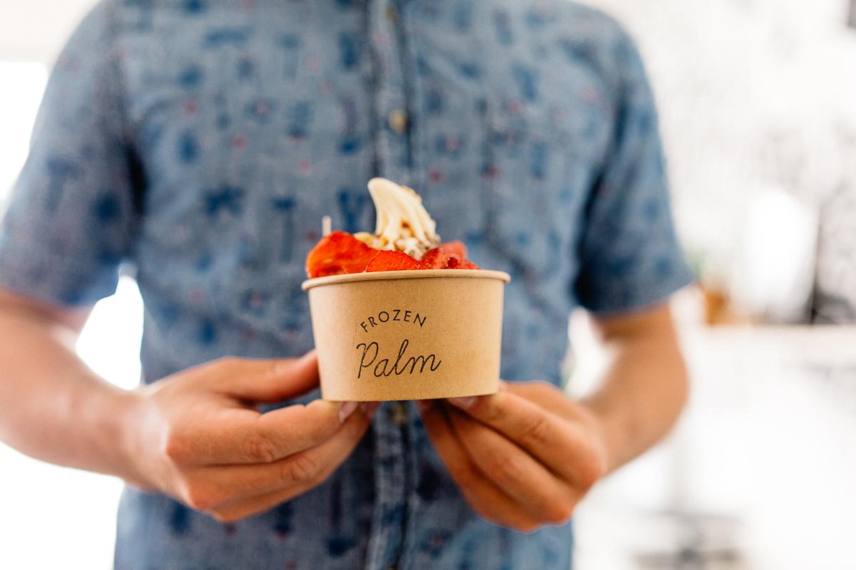Coffe Shop Frozen Palm à Biarritz le yaourt glacé