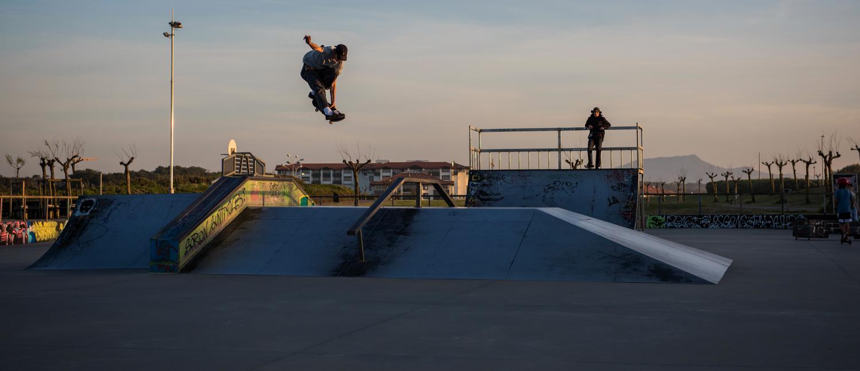 Skatepark d'Anglet au Pays basque