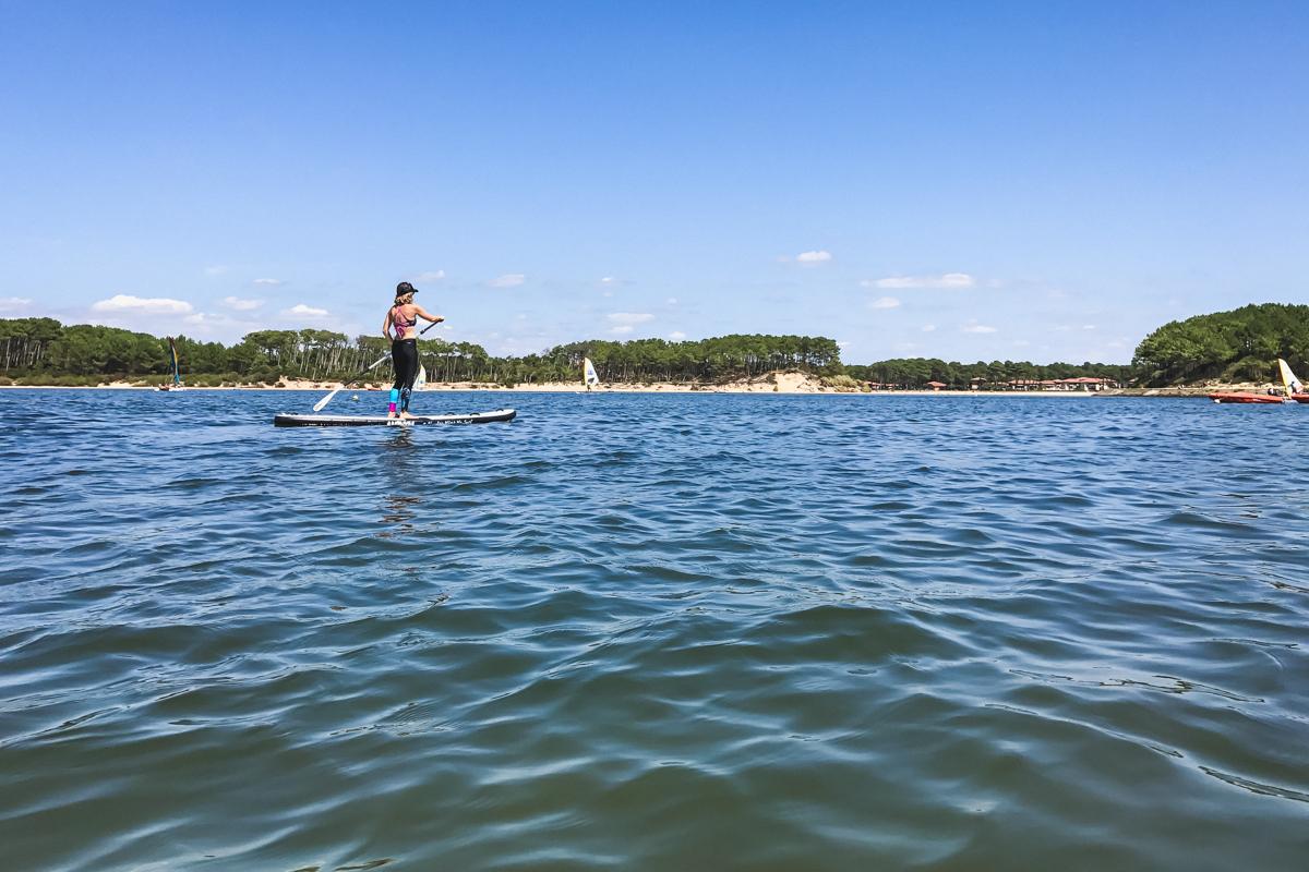 Stand-up paddle au Lac marin du Port d'Albret de Soustons et Vieux-Boucau