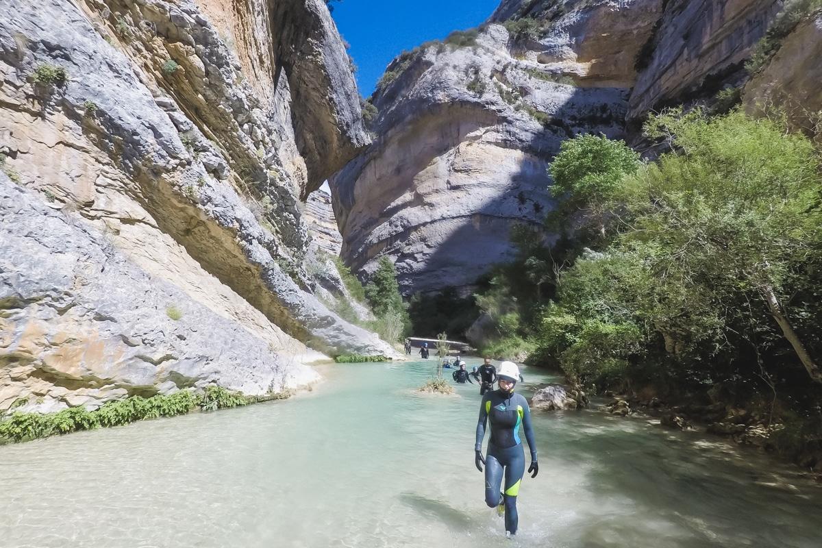 Canyon du Rio Vero en Sierra de Guara en Espagne