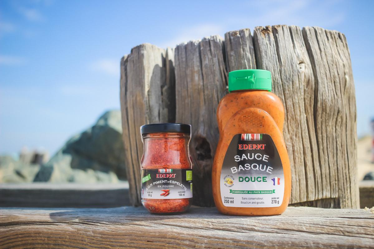 La Kinda Box été 2017 avec la sauce basque et le piment d'Espelette Ederki