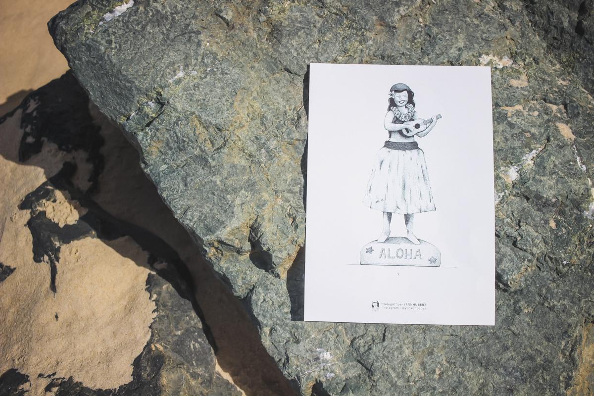 L'illustration de l'artiste Yann Hubert dans la Kinda Box été 2017