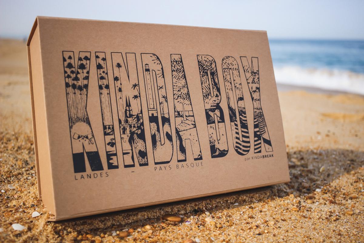 La nouvelle Kinda Box illustrée par l'artiste Yann Hubert et contenant des produits basques et landais
