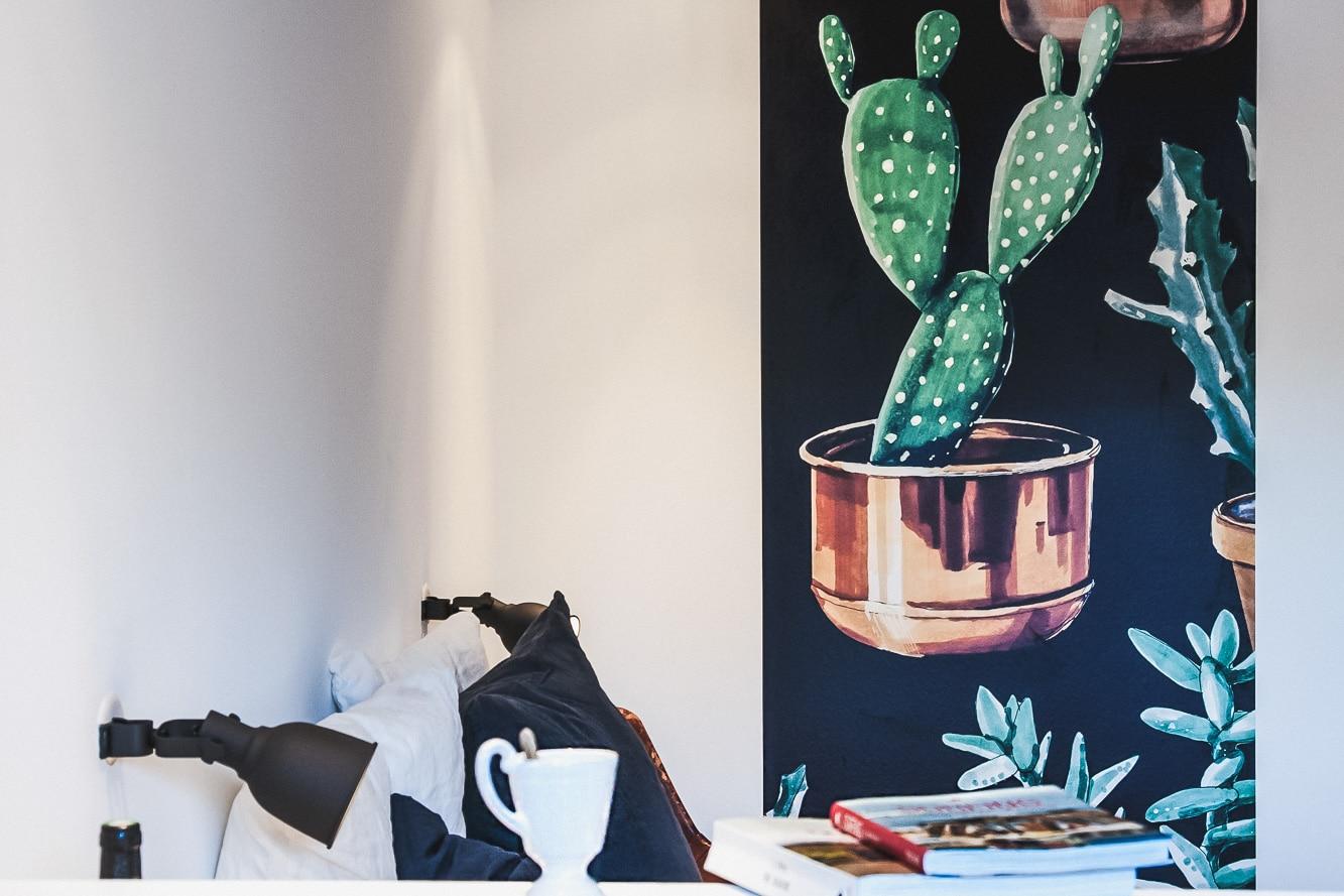 Papier peint design cactus réalisé à Capbreton par Hexoa