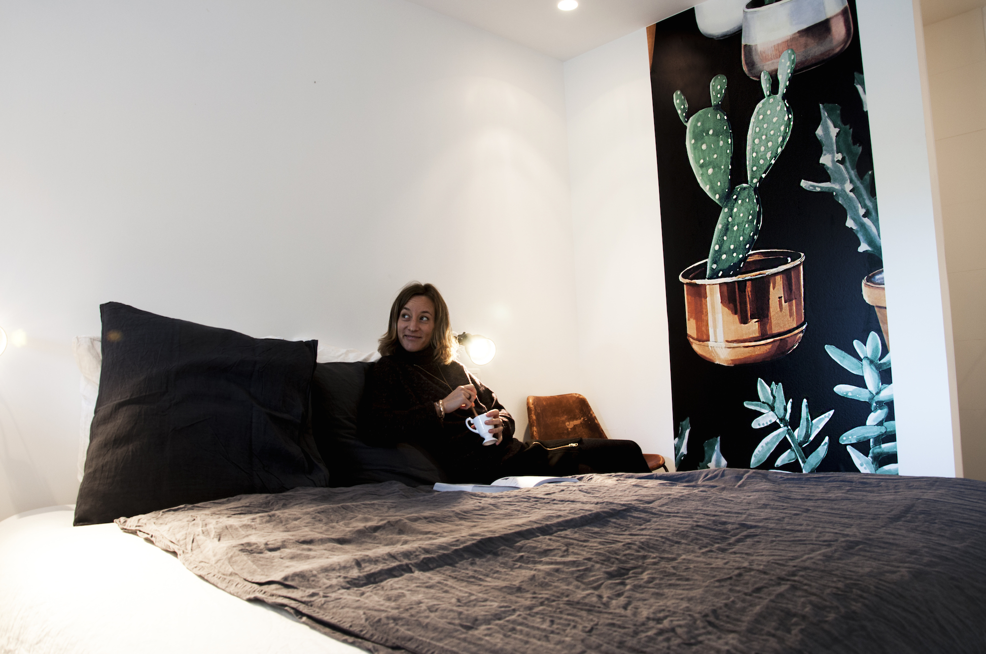 Papier peint cactus design Hexoa à Capbreton