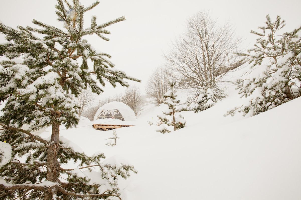 snow dome wild neige gourette aventure nordique spa luxe sauna