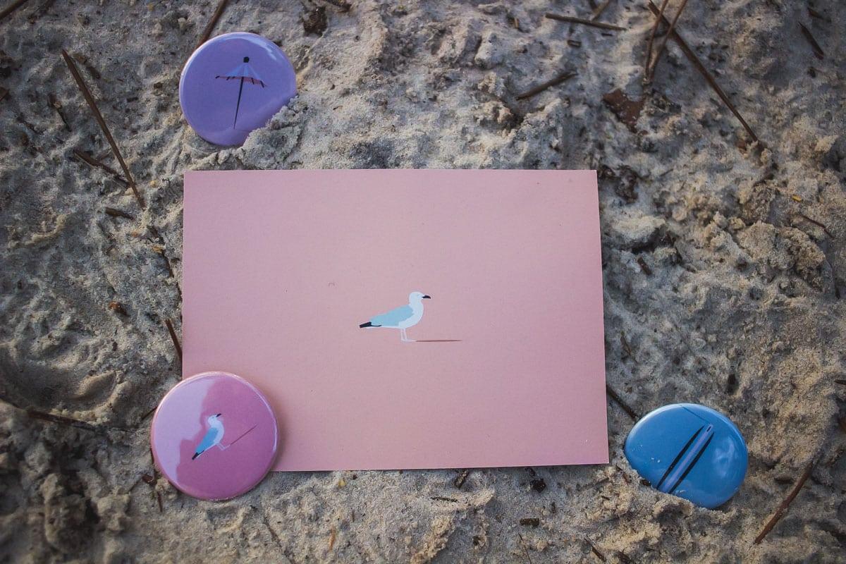 alabama papeterie set illustration kinda box landes pays basque cartes badges décoration lettre