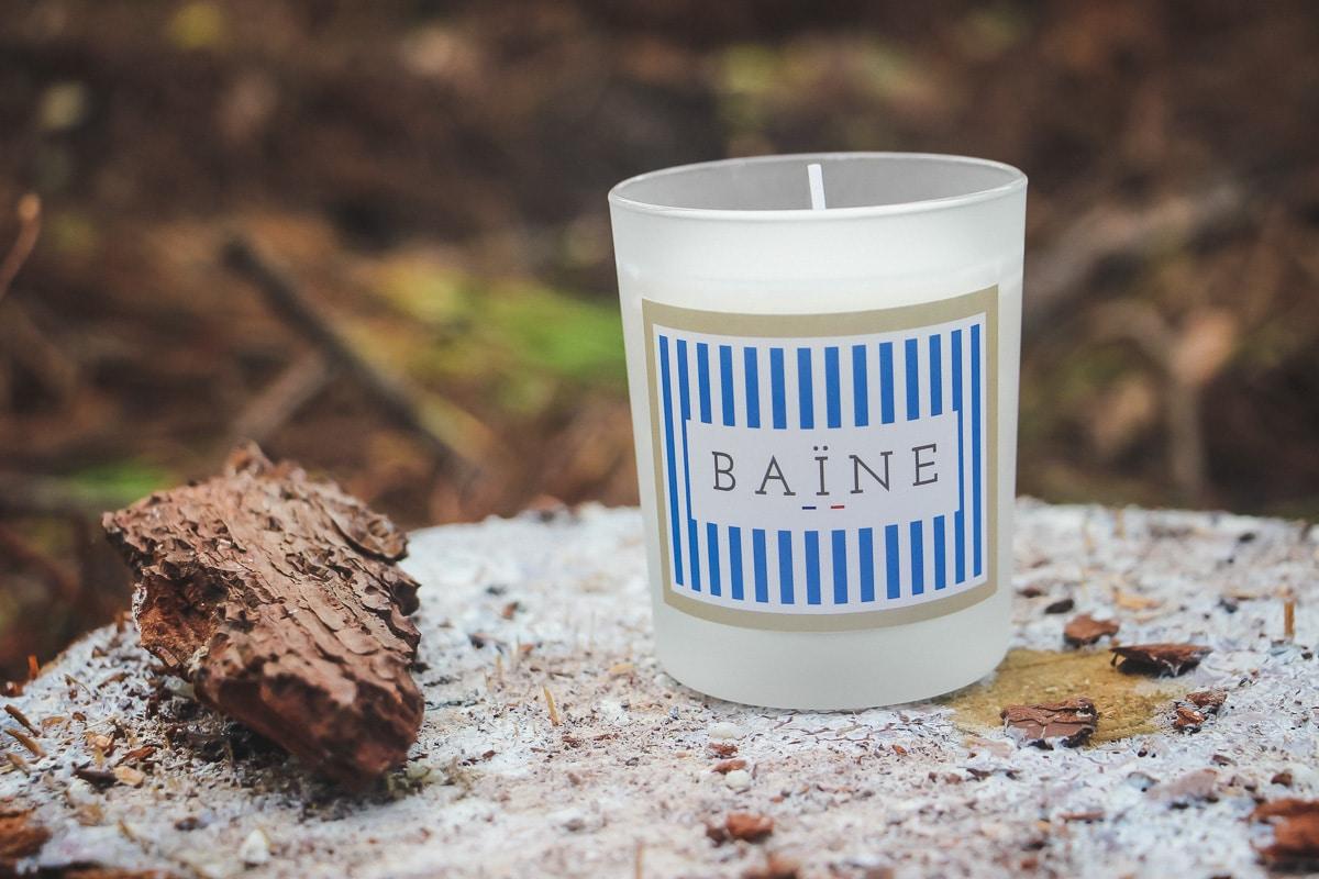 baine bougie décoration cosy pays basque landes cire naturelle kinda box cadeau offrir