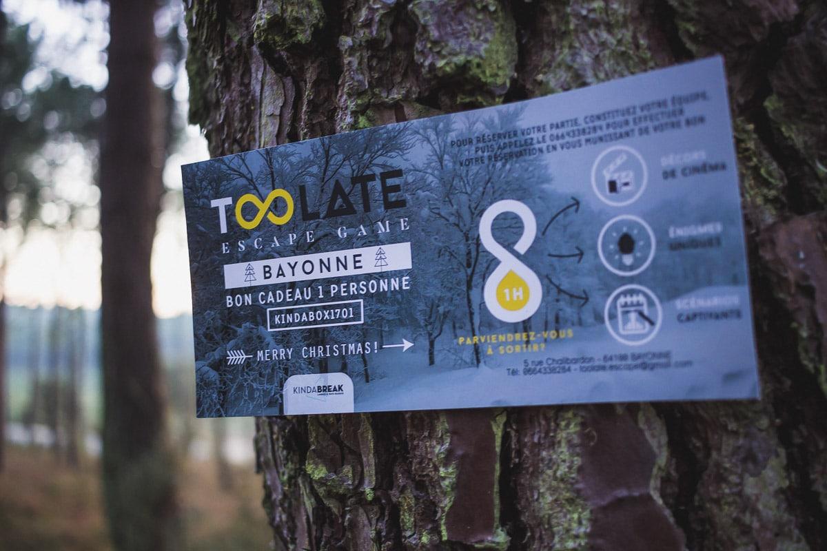 too late escape game jeu ludique loisirs fun pays basque landes activité bayonne