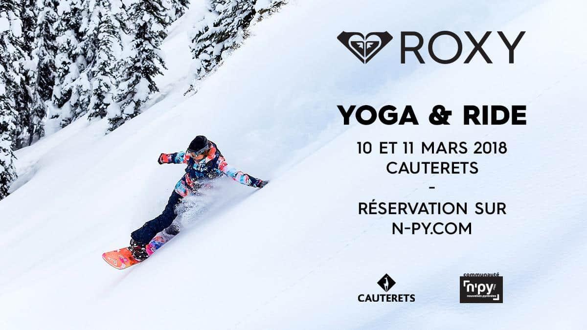 yoga ride ski cauteret pyrenees aquitaine