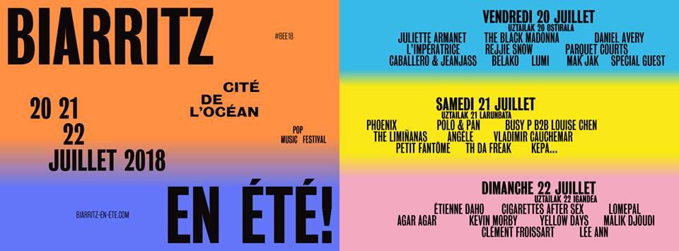 Festival musical Biarritz en été du 20 au 22 juillet 2018 au Pays basque