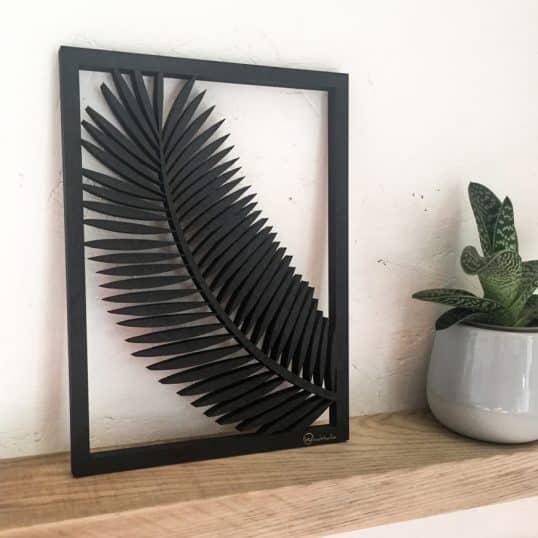 tableau cadre woodstache bois palm palmier