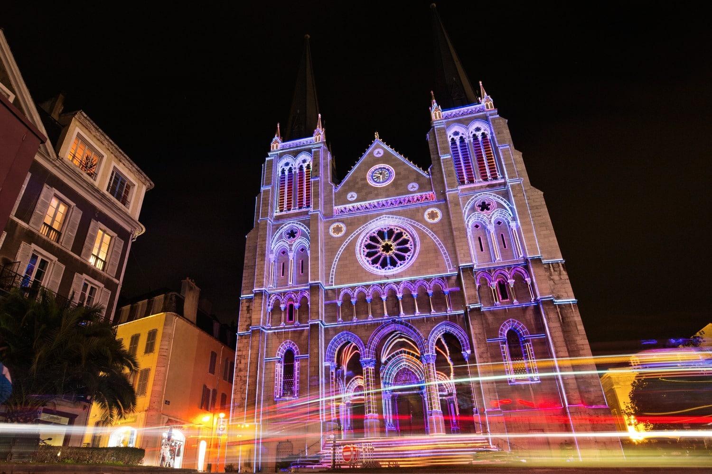 Château de Pau illuminations de nuit