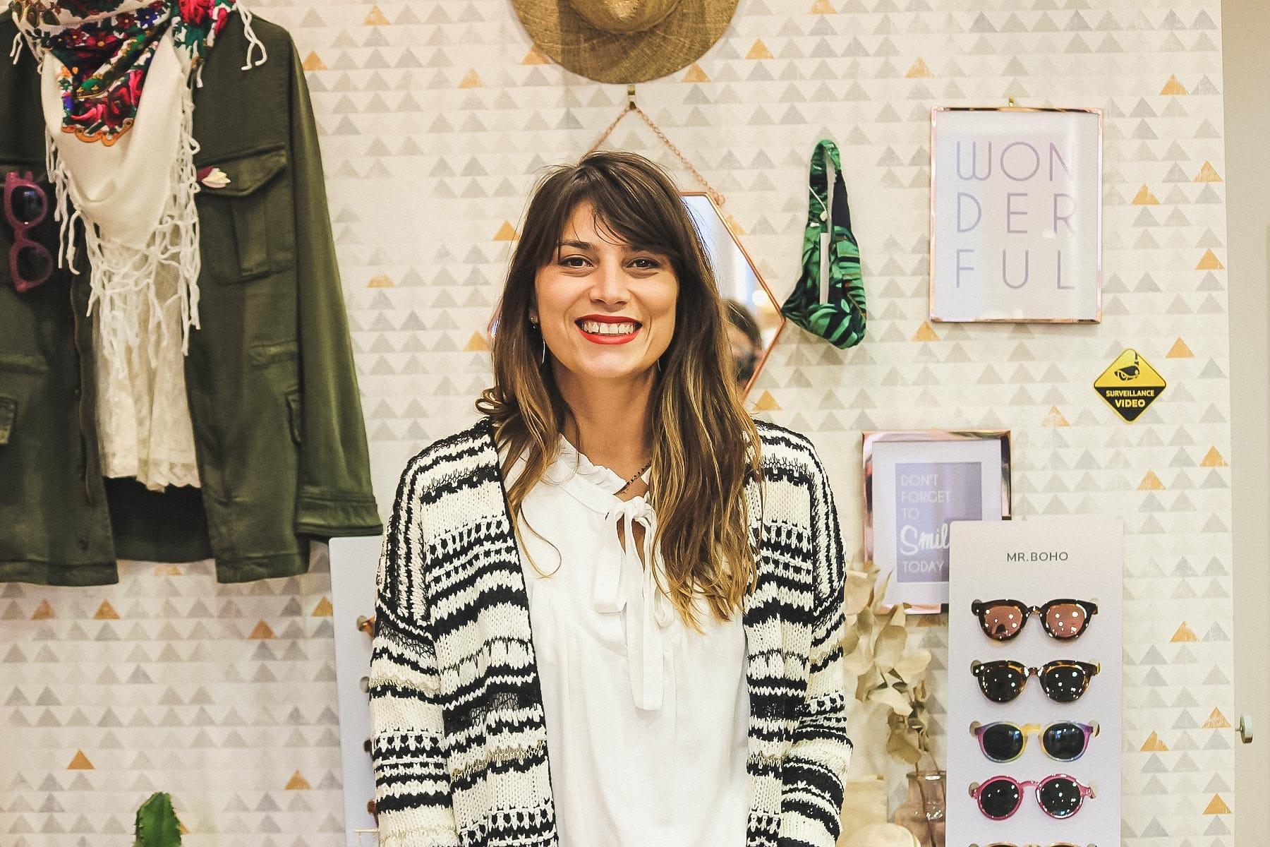 Fernanda de la boutique de prêt à porter femme Loëla à Pau