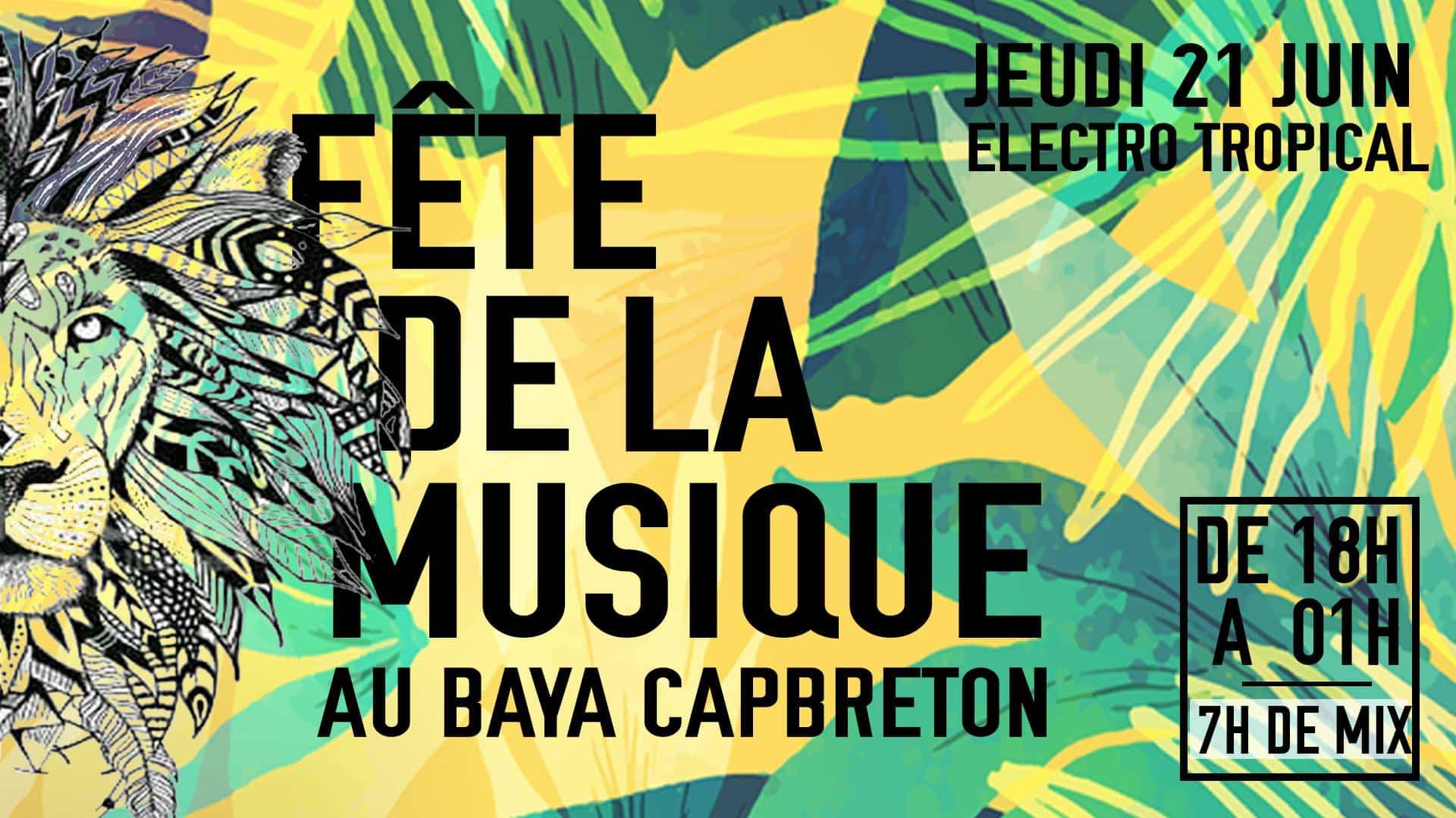 Fête de la musique baya hôtel capbreton dj set danse sunset