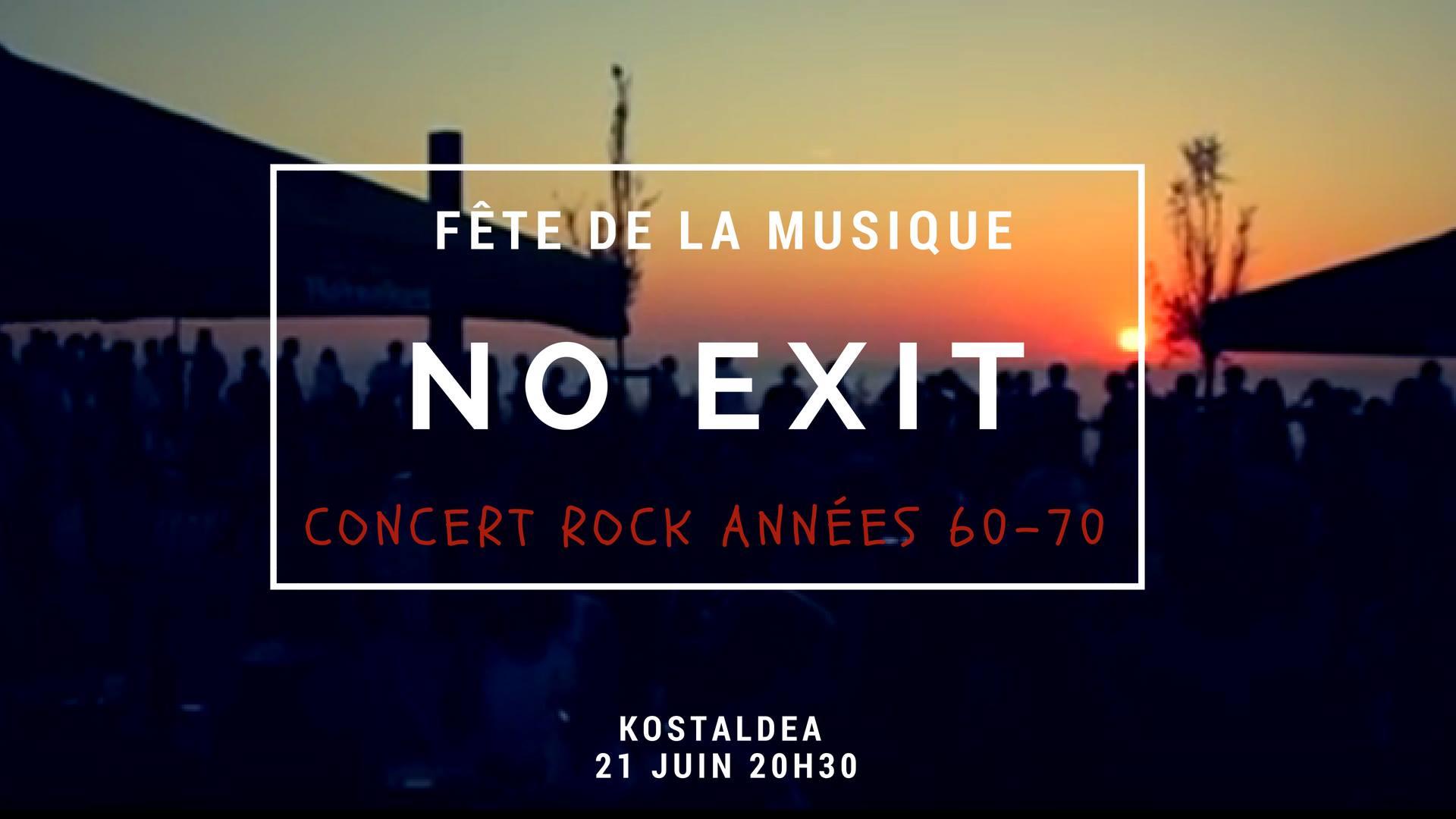 Fête de la musique anglet no exit groupe rock concert