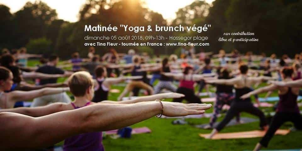 yoga hossegor brunch végétalien healthy sport bio