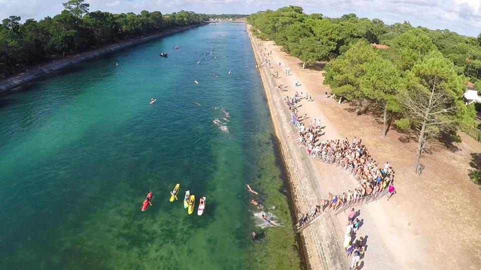 Natation course hossegor 14 juillet canal nage