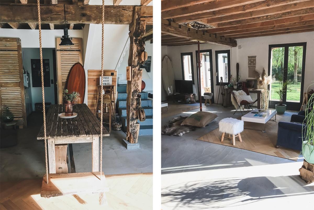 Logement insolite Coco Barn Wood Lodge à Angresse dans les Landes près de Hossegor