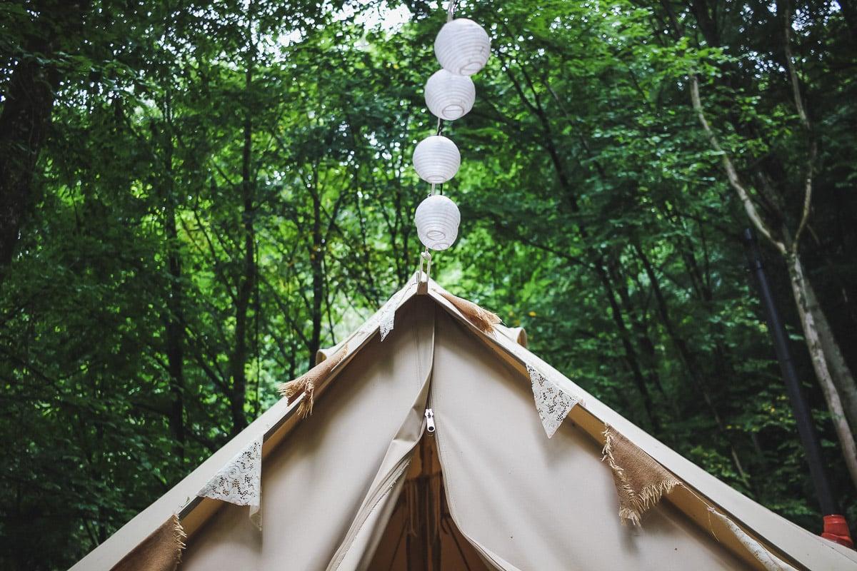 Nuit insolite dans La tente Sibley du Perchoir des Pyrénées près de Bagnères de Bigorre.