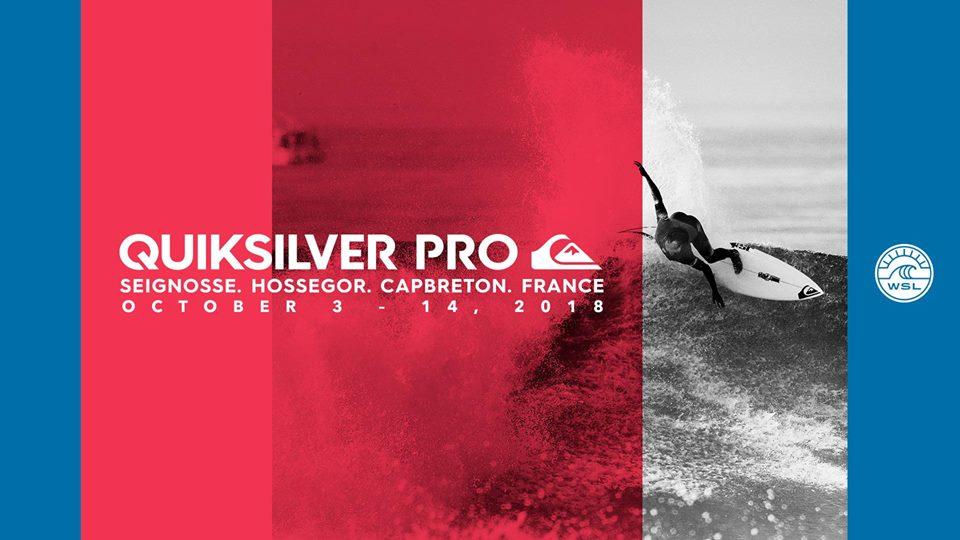 Quiksilver Pro France à Hossegor du 3 au 14 octobre 2018 : le programme