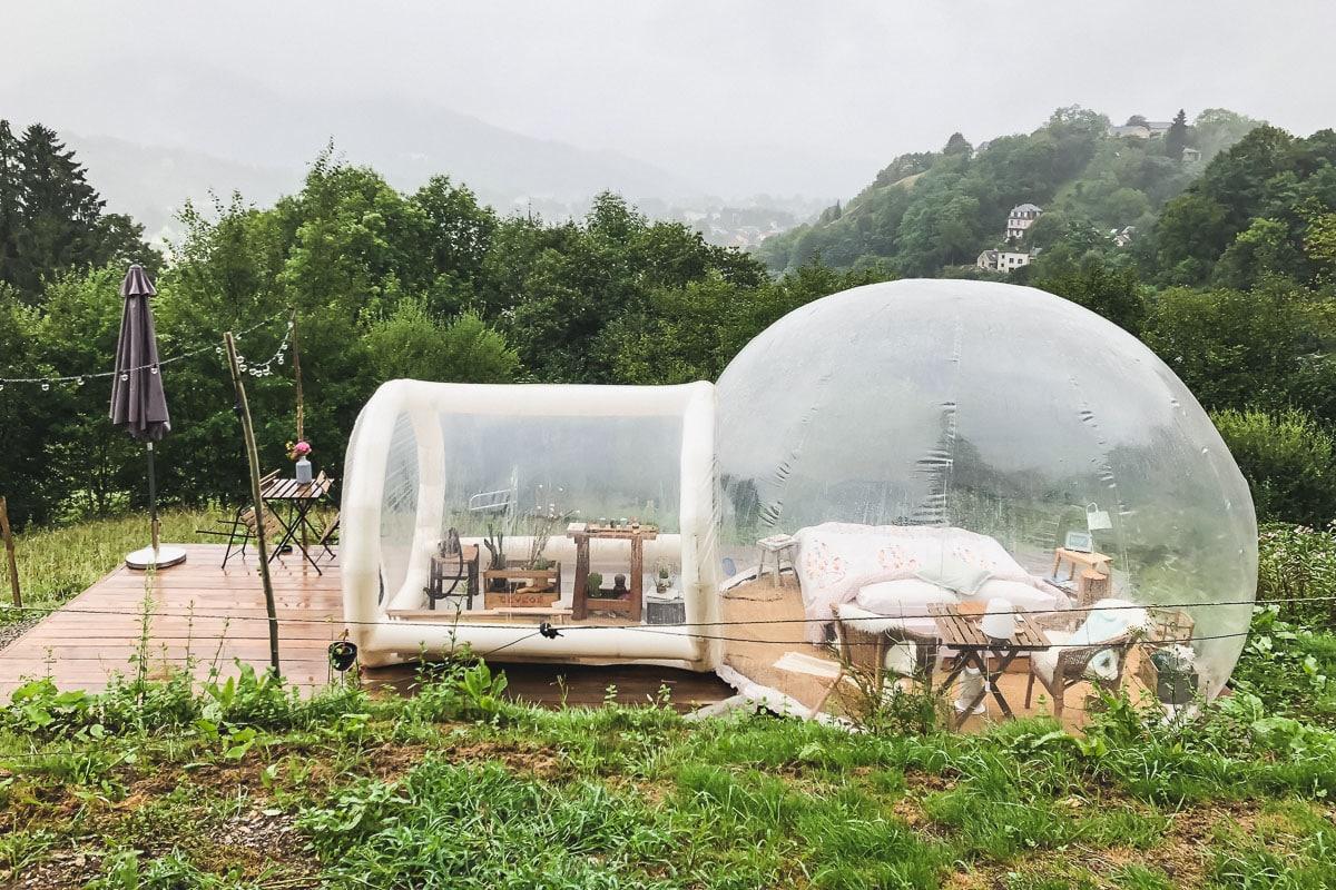 Logement insolite en bulle transparente au perchoir des Pyrénées à Bagneres-de-Bigorre.