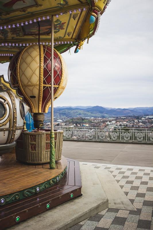 Parc d'attraction du Mont Igueldo à San Sebastian dans le Pays basque espagnol.