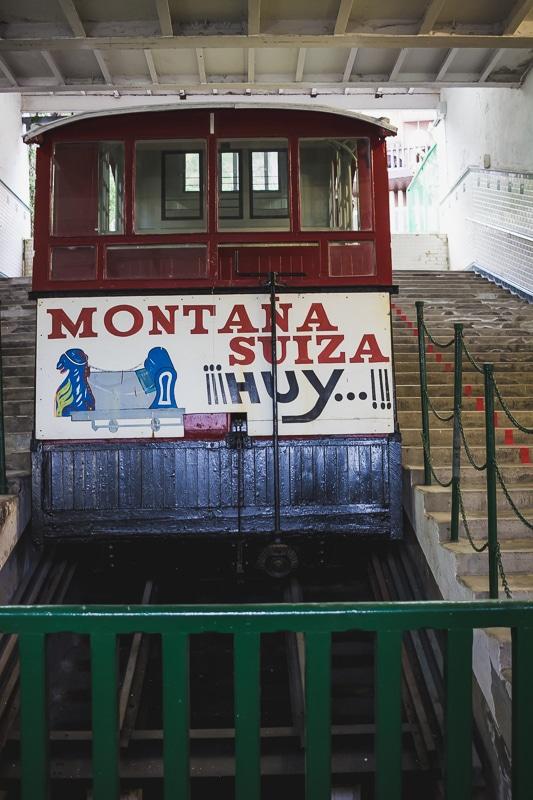 Funiculaire du Mont Igueldo à San Sebastian dans le Pays basque espagnol.