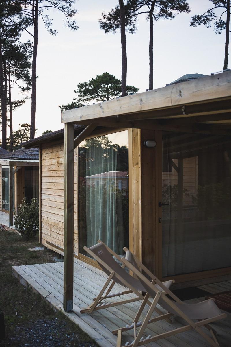 Village vacances Natureo à Seignosse dans les Landes : hébergements nature et insolite en cabane en bois