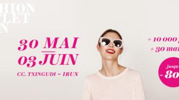 Fashion Outlet à Irun mai et juin 2019