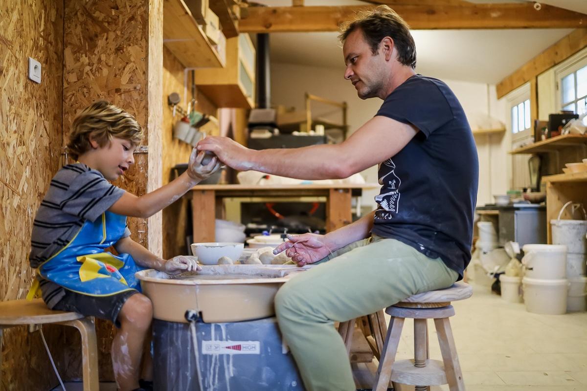 Cours de poterie avec Xavier Brasleret