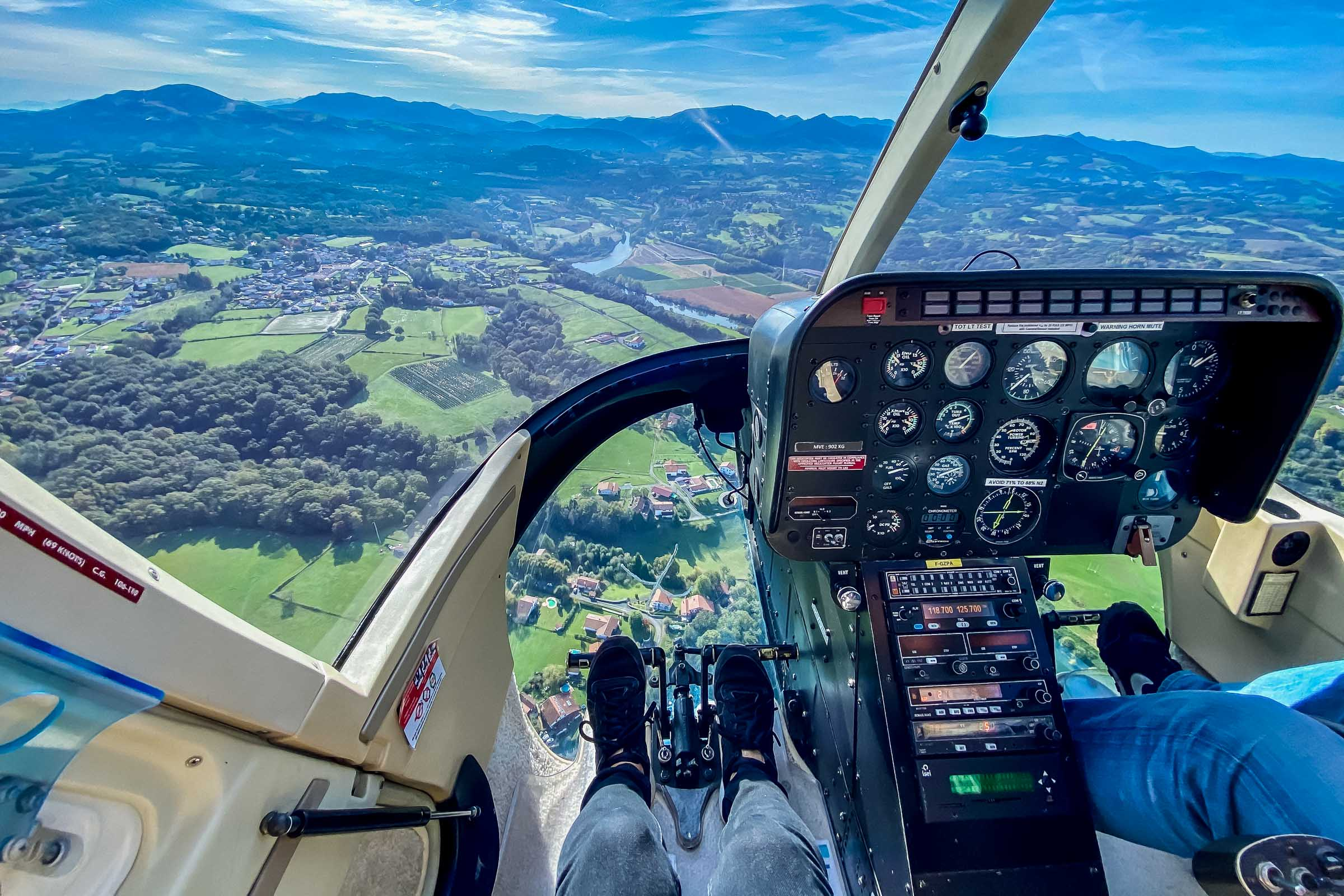 Vol au-dessus du Pays basque avec Biarritz Helicoptère
