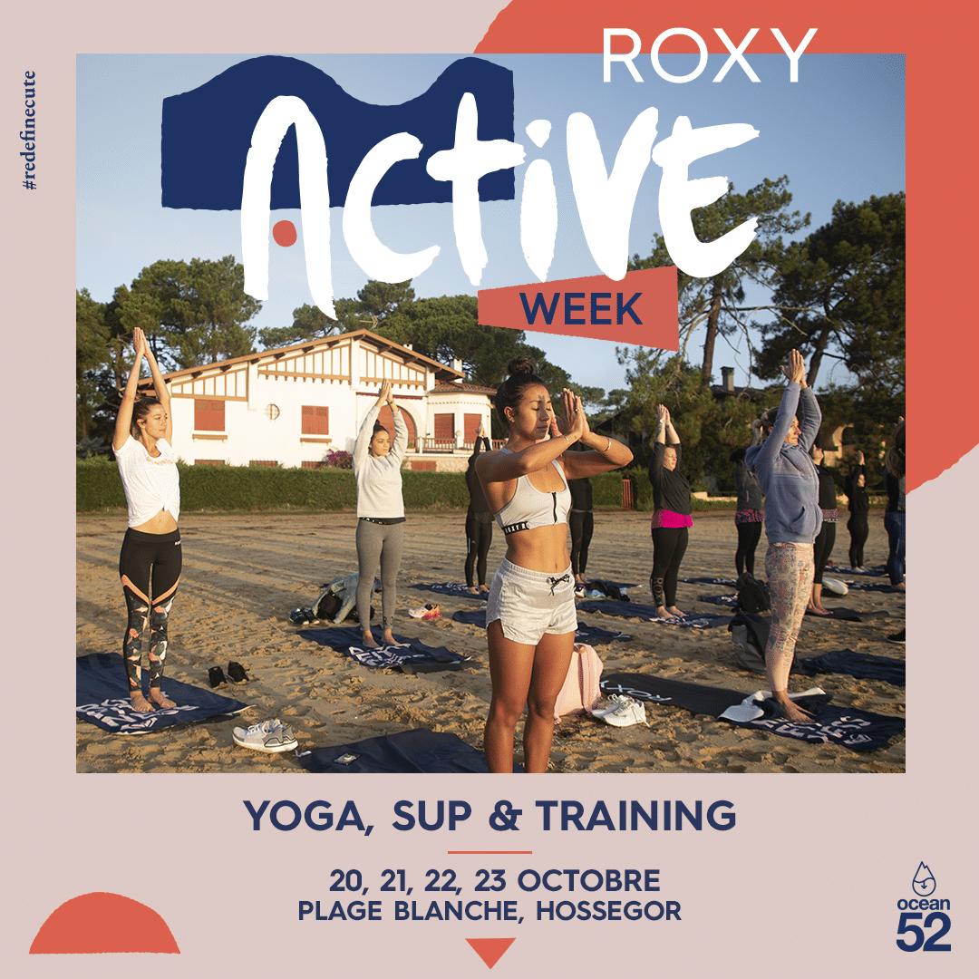 Roxy Fitness Active Week octobre 2021 au Lac d'Hossegor