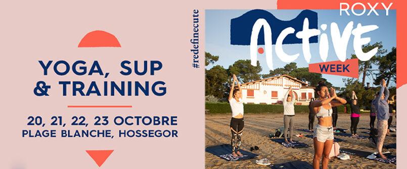 Roxy Fitness Active Week : yoga et sup au Lac d'Hossegor pour le Pro France 2021